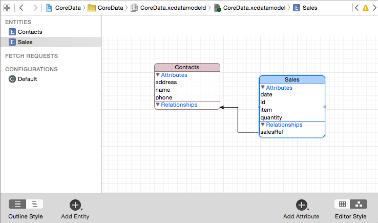 Working with iOS 9 Databases using Core Data - Techotopia