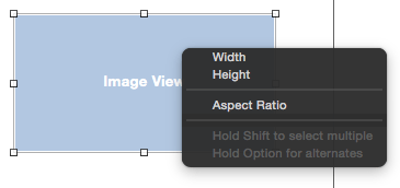 Setting aspect ratio constraints in Xcode