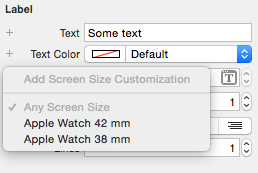 Adding a screen size attribute setting
