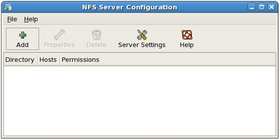The RHEL NFS Server Configuration Tool